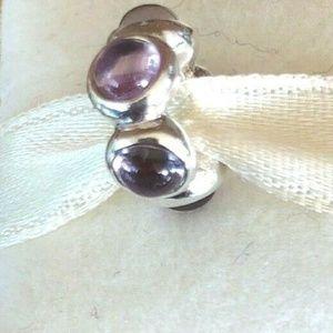Pandora Retired First Kiss, Purple Amethyst Charm